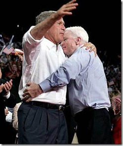 georgebushjohnmccainhugging