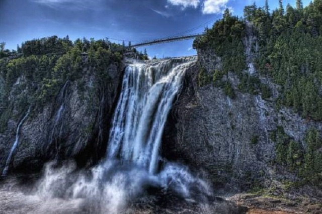 The Montmorency Falls in Quebec